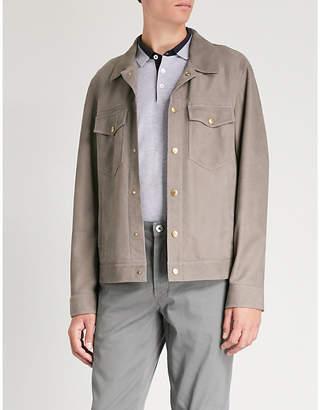 Brunello Cucinelli Leather safari jacket