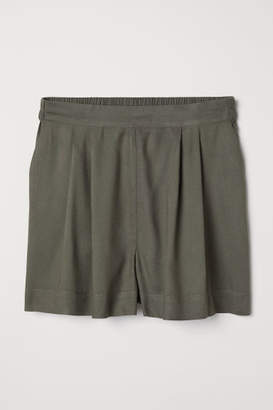 H&M Wide-cut Shorts - Green
