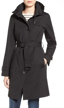 Women's Michael Michael Kors Hooded Trench Coat $210 thestylecure.com