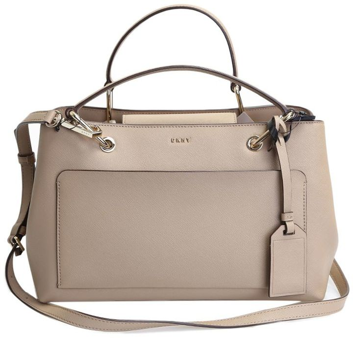 DKNY Beige Leather Bag