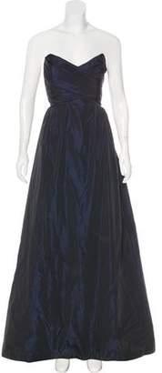 Amsale Strapless Evening Dress