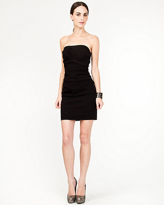 Le Château Bengaline Fitted Strapless Dress