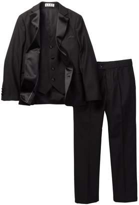 Isaac Mizrahi 3 Piece Notch Lapel Tuxedo (Toddler, Little Boys, & Big Boys)