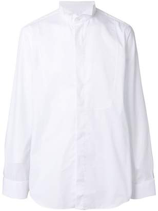 Lardini pleated front shirt