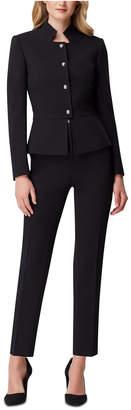 Tahari ASL Petite Star-Neck Pants Suit