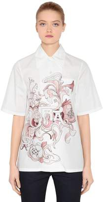 Prada Liberty Printed Cotton Poplin Shirt