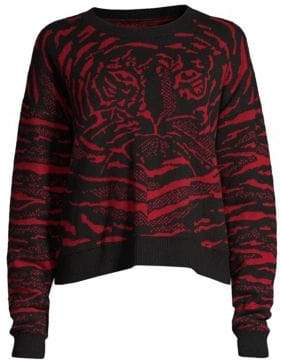 Robert Rodriguez Wool and Cashmere Tiger Sweater