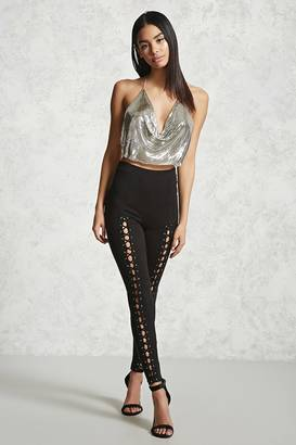 FOREVER 21+ Lace-Up Front Leggings $19.90 thestylecure.com