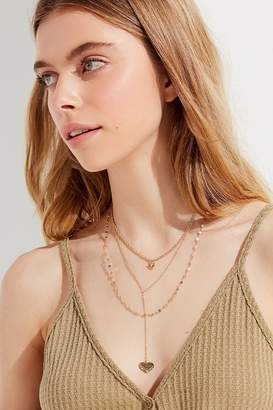 Urban Outfitters Cross My Heart Layering Necklace