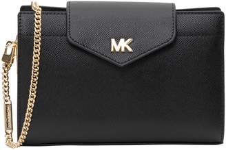 MICHAEL Michael Kors Grossgrain Leather Crossbody Clutch