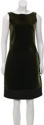 Emporio Armani Velour Sheath Dress