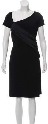 Michael Kors Virgin Wool Wrap-Accented Dress