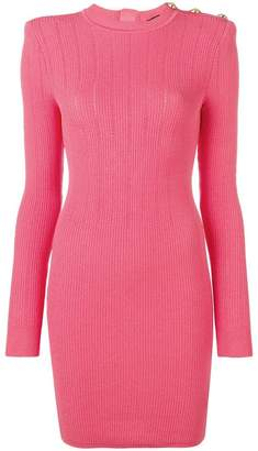 Balmain short knitted dress