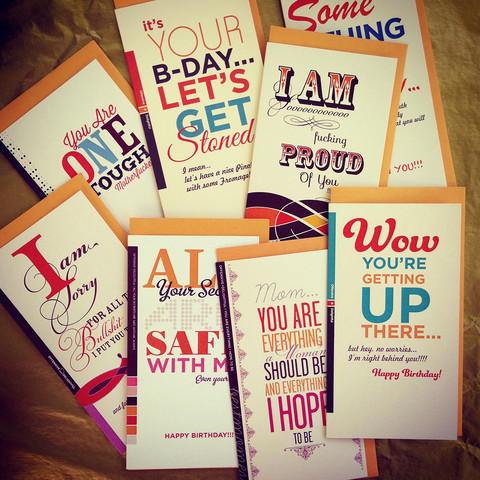 Offensive + Delightful Word To The Wise Cards Set Of 8