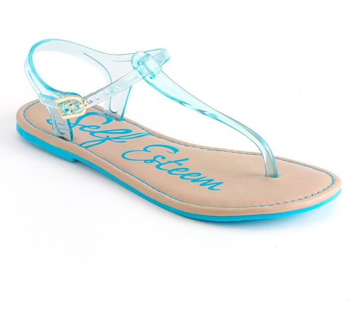 Self Esteem venice jelly t-strap sandals
