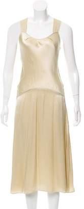 Calvin Klein Collection Satin Midi Dress