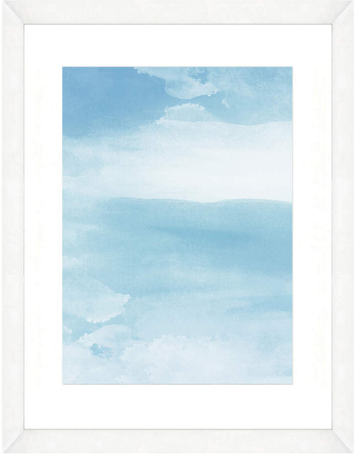 Art Source Blue Abstract II (Framed Giclee)