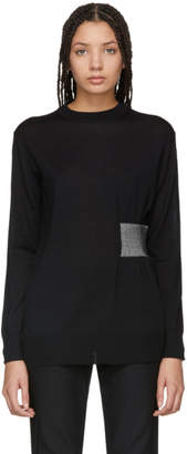 Proenza Schouler Black Side-Cinch Pullover