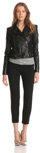 BCBGMAXAZRIA Women's Vaughn Leather Jacket