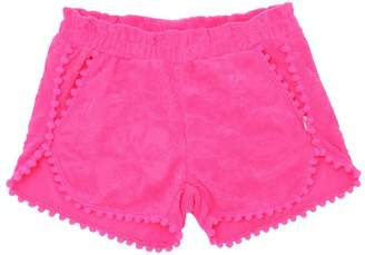Billieblush Terrycloth Shorts With Pompom Trim