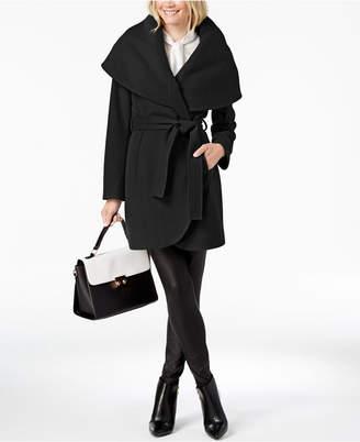 T Tahari Marla Belted Wrap Coat