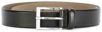 HUGO BOSS silver-tone square buckle belt
