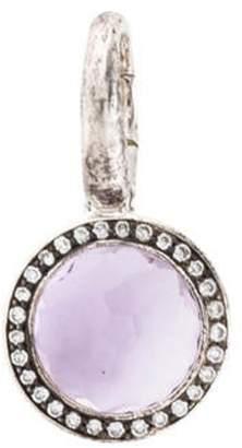 Ippolita Amethyst & Diamond Lollipop Charm silver Amethyst & Diamond Lollipop Charm