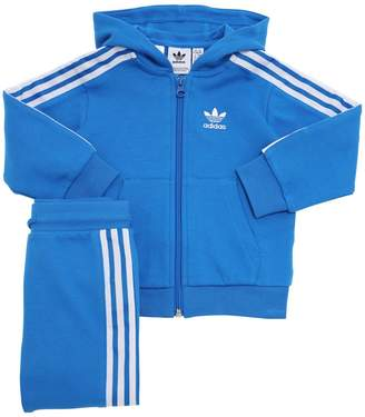 adidas Cotton Blend Zip-up Hoodie & Sweatpants