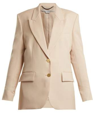Stella McCartney Damaris Wool Blend Blazer - Womens - Light Pink