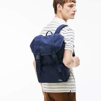 Lacoste Men's Neocroc Monochrome Canvas Flap Backpack