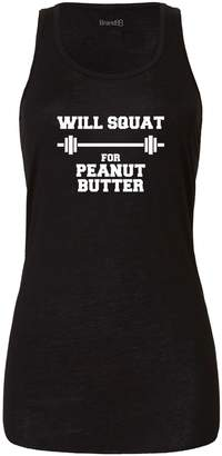 Butter Shoes Brand88 Will Squat For Peanut Butter, Ladies Tank Top - M