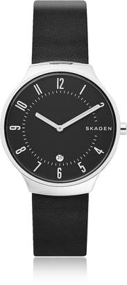 Skagen Grenen Black Leather Men's Watch