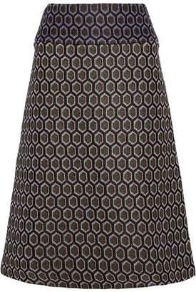 Marni Metallic Jacquard-Knit Skirt