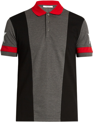 GIVENCHY Cuban-fit star-print polo shirt $364 thestylecure.com