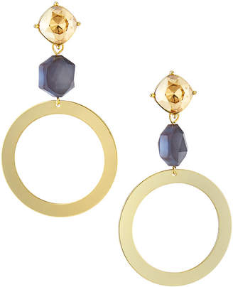 Stella & Ruby Circle Drop & Stone Earrings