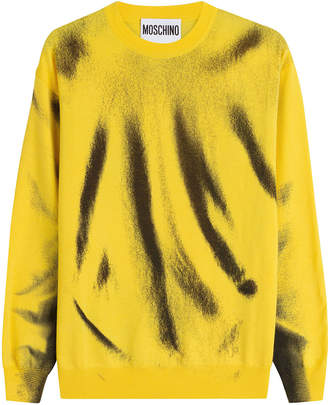 Moschino Printed Virgin Wool Sweatshirt
