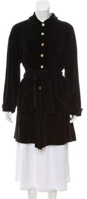 Sonia Rykiel Velvet Knee-Length Coat