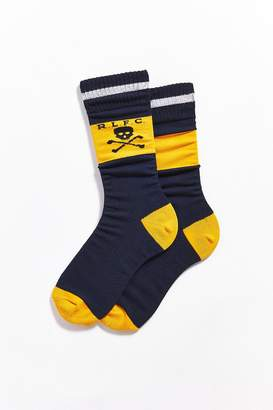Polo Ralph Lauren Mismatched Skull Striped Cuff Crew Sock