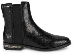 Franco Sarto Racine Embossed Snakeskin Leather Ankle Boots