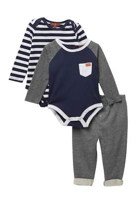 7 For All Mankind 2 Bodysuits & Pants Set (Baby Boys 0-3M-6-9M)
