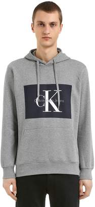 Calvin Klein Jeans Classic Logo Hooded Cotton Sweatshirt