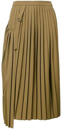 Joseph pleated wrap skirt