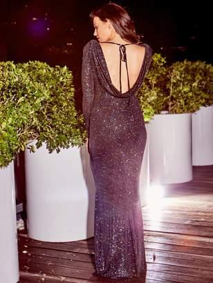 3febc2567fc2 Jessica Wright Helen Sparkle Cowl Back Maxi Dress