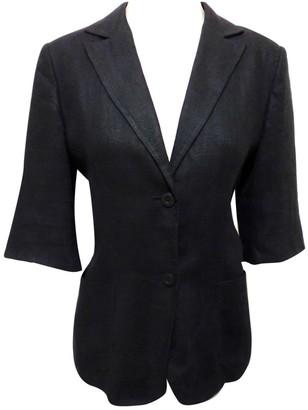 Pierre Cardin Black Linen Jacket for Women