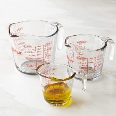 Williams Sonoma Anchor Hocking Glass Measuring Cups