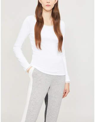 The White Company Silk-trim jersey top