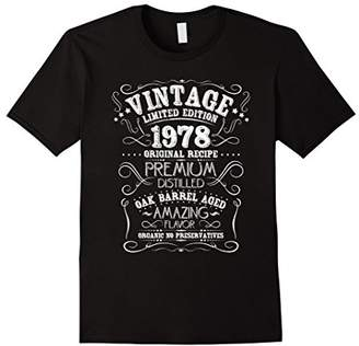 Vintage 1978 40th Birthday Shirt Grunge Distressed Gift Tee