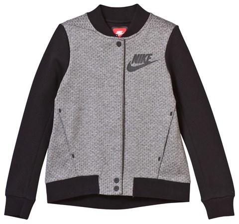 NIKE Grey and Black Tech Fleece Jacket