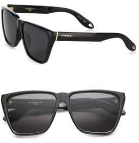 Givenchy 55MM Acetate Angular Sunglasses