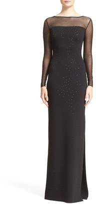 Women's St. John Collection Embellished Shimmer Milano Knit Gown $1,795 thestylecure.com